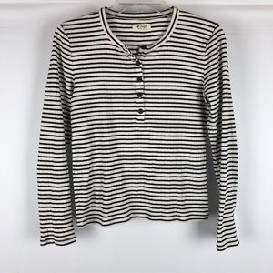 Madewell Striped Henley Top